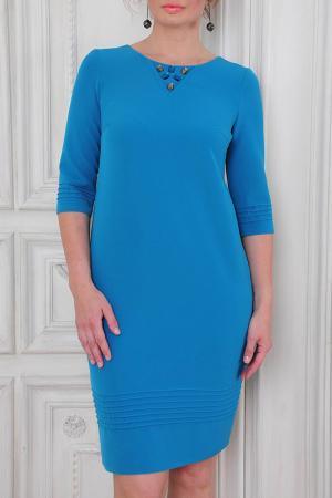 Платье MONO collection. Цвет: морская волна