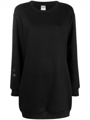 Платье-свитер с логотипом Wolford. Цвет: черный
