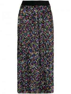 Sequin midi skirt Ultràchic. Цвет: черный