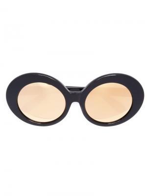 Солнцезащитные очки овальной формы Linda Farrow. Цвет: черный