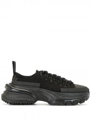 Кроссовки на массивной подошве Wooyoungmi. Цвет: черный