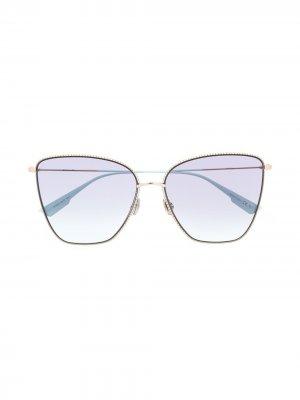Массивные солнцезащитные очки Society 1 Dior Eyewear. Цвет: синий