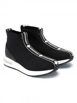 Кроссовки-носки с логотипом Dsquared2 Kids. Цвет: черный
