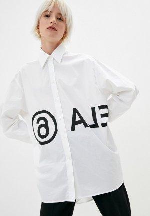 Рубашка MM6 Maison Margiela. Цвет: белый