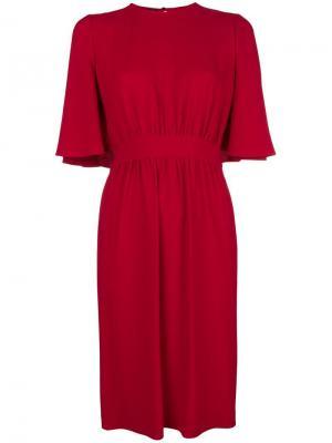Cape effect midi dress Giambattista Valli. Цвет: красный