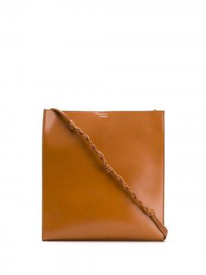 Сумка на плечо Tangle Jil Sander. Цвет: коричневый