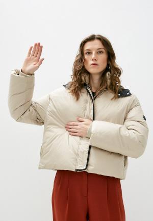 Куртка утепленная Trussardi. Цвет: бежевый