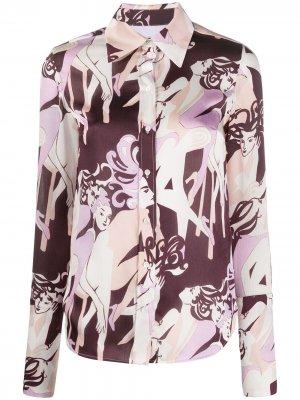 Рубашка с принтом Jazz Club Victoria Beckham. Цвет: фиолетовый