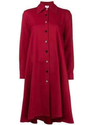 Свободное платье-рубашка Ultràchic. Цвет: красный