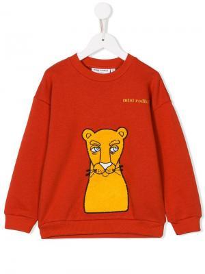 Cat-patch sweatshirt Mini Rodini. Цвет: красный