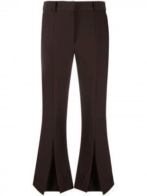 Укороченные расклешенные брюки Rokh. Цвет: коричневый