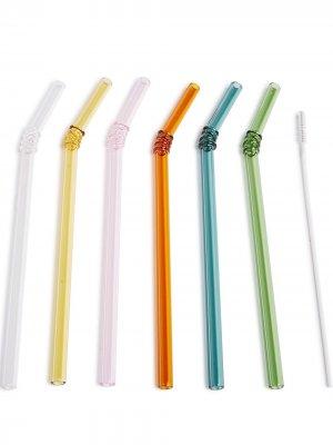 Комплект соломинок Hay. Цвет: синий