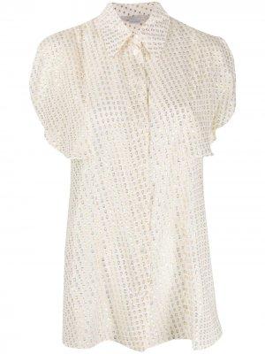 Блузка с жаккардовым узором Stella McCartney. Цвет: белый