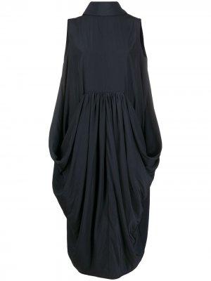 Платье миди без рукавов JW Anderson. Цвет: синий