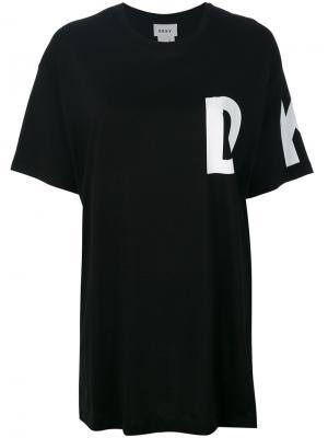Футболка с логотипом Donna Karan. Цвет: чёрный