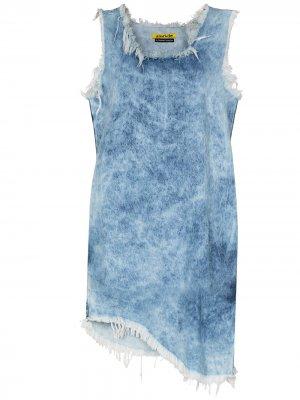 MarquesAlmeida платье-трапеция из вареного денима Marques'Almeida. Цвет: синий