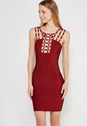 Платье Paccio. Цвет: бордовый