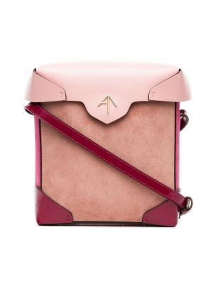 Квадратная сумка через плечо Manu Atelier. Цвет: розовый