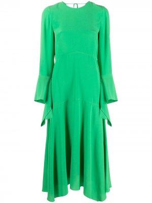 Платье миди Victoria Beckham. Цвет: зеленый