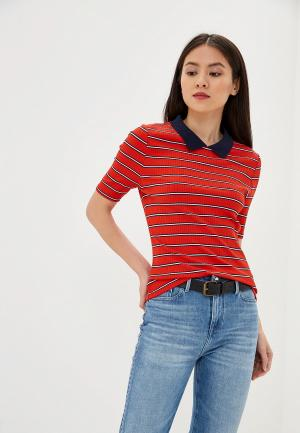 Поло Tommy Jeans. Цвет: красный