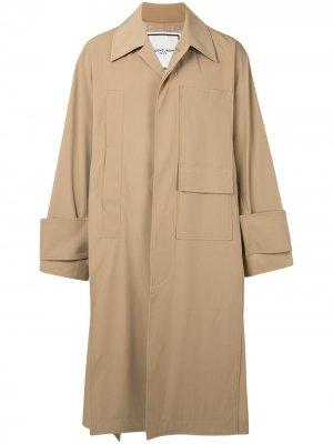 Тренч с карманами Wooyoungmi. Цвет: коричневый