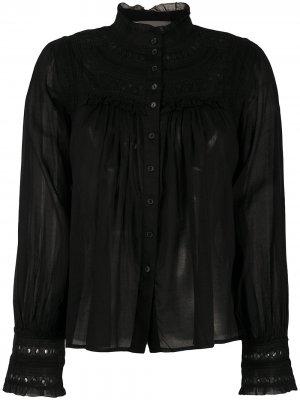Рубашка с вышивкой Ba&Sh. Цвет: черный