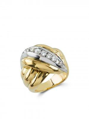 Кольцо 1941-1960-х годов из желтого и белого золота с бриллиантами Van Cleef & Arpels. Цвет: золотистый
