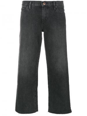 Широкие укороченные брюки Simon Miller. Цвет: серый