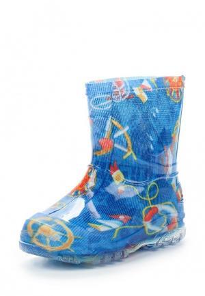 Резиновые сапоги Каури. Цвет: синий