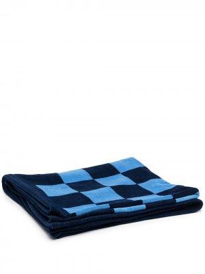 Пляжное полотенце с логотипом CC Chanel Pre-Owned. Цвет: синий
