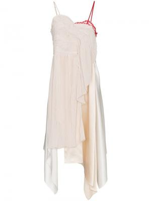 Платье Adelia с кружевом Preen By Thornton Bregazzi. Цвет: нейтральные цвета