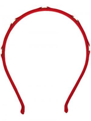 Ободок с гравировкой в виде логотипа Salvatore Ferragamo. Цвет: красный