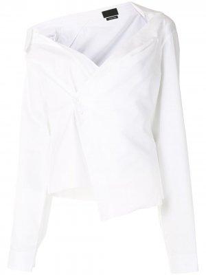 Рубашка Elizabeth с открытыми плечами RtA. Цвет: белый