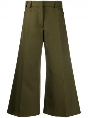 Укороченные брюки широкого кроя Stella McCartney. Цвет: зеленый