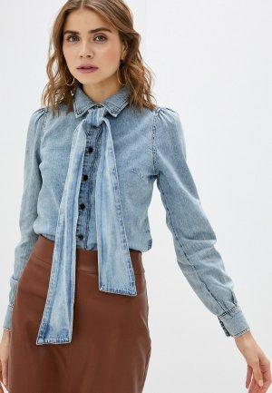 Рубашка джинсовая Twist & Tango. Цвет: голубой