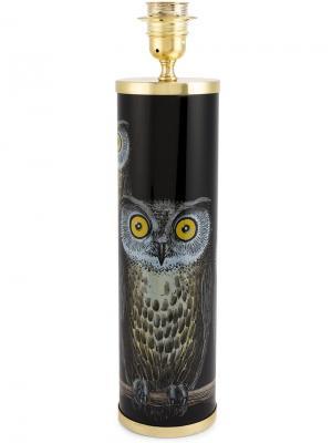 Основание для лампы с принтом совы Fornasetti. Цвет: черный