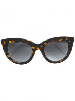 Солнцезащитные очки Victoria Beckham. Цвет: черный