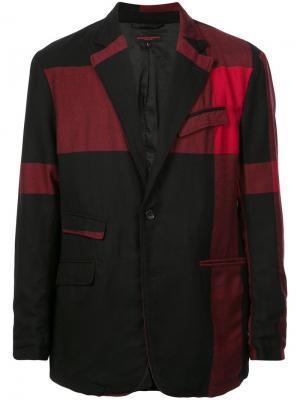 Блейзер в стиле пэчворк Engineered Garments. Цвет: черный