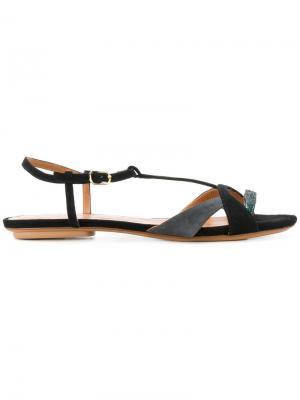 Двухцветные сандалии Chie Mihara. Цвет: черный