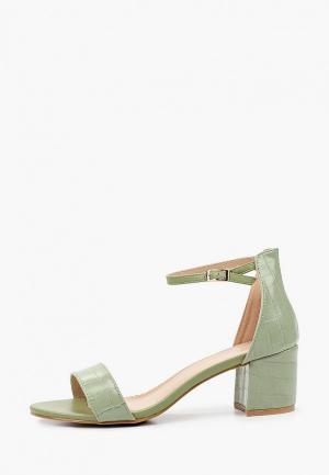 Босоножки Ideal Shoes. Цвет: зеленый