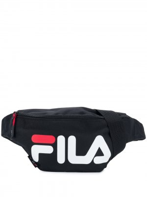 Поясная сумка с принтом логотипа Fila. Цвет: черный
