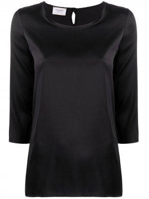 Блузка с рукавами три четверти Snobby Sheep. Цвет: черный