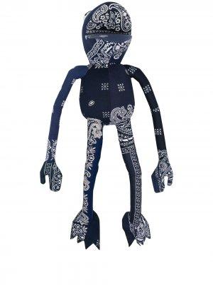 Мягкая игрушка Frogman с принтом (55 мм) Readymade. Цвет: синий