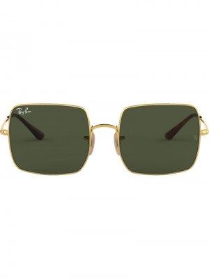 Солнцезащитные очки RB1971 в квадратной оправе Ray-Ban. Цвет: золотистый
