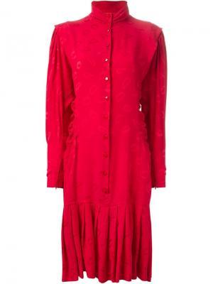 Платье Kiss Emanuel Ungaro Pre-Owned. Цвет: красный