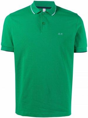 Рубашка поло с вышитым логотипом Sun 68. Цвет: зеленый