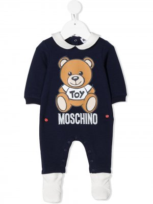 Пижама с принтом Moschino Kids. Цвет: синий