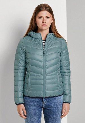 Куртка утепленная Tom Tailor Denim. Цвет: бирюзовый