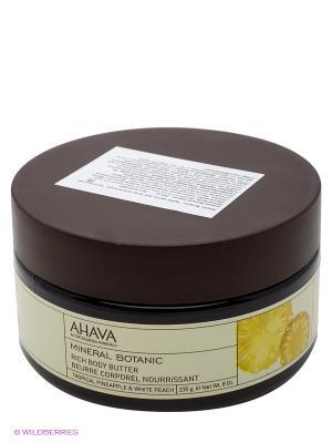 Крем-масло для тела питательное Тропический ананас/Белый персик AHAVA. Цвет: прозрачный