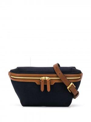 Парусиновая поясная сумка MS Mismo. Цвет: синий